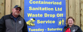 Containerized Sanitation - Open Tuesday thru Saturday 8am til 4pm