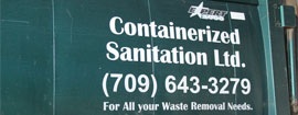 Containerized Sanitation - For All your Waste Removal Needs